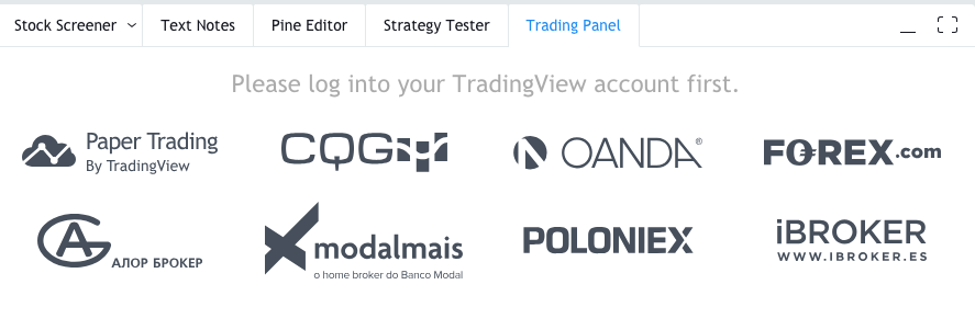 Available brokers in TradingView