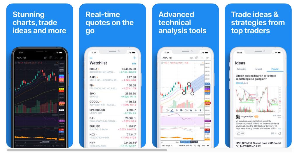 TradingView iOS mobile app