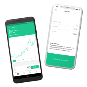 Robinhood mobile app pictures